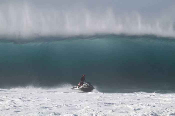 Jeffo at the Banzai Pipeline on the North Shore of Hawaii