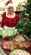 Mrs Claus Baking Ginger Bread Cookies